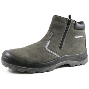 CE Suede Leather Steel Toe Cap No Lace Sport Safety Shoes Men Working