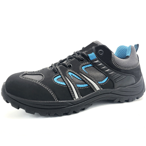 2020 Black leather metal free men composite toe work shoes safety