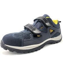 CE oil slip resistant airport breathable no lace safety shoes fiberglass toe