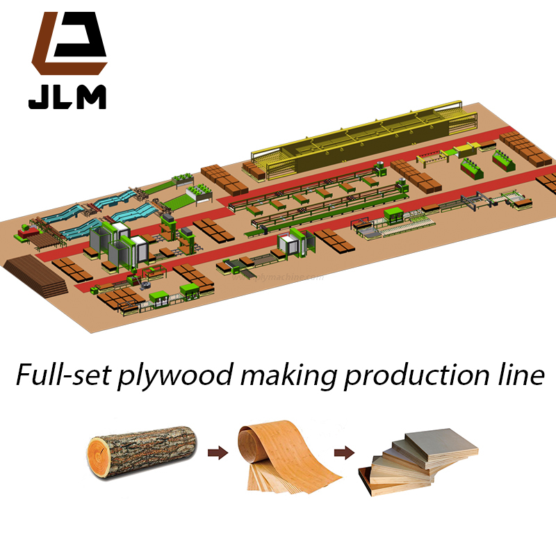 Wood Veneer Peeling Line for Plywood Production