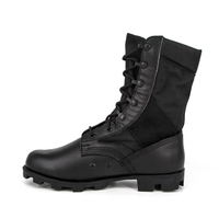 Black rubber military jungle boots 5220
