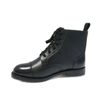 Ankle Boot genuine leather for military office men