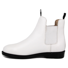 Cow leather slip white fashion office shoes 1251