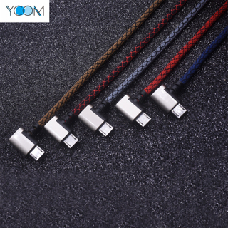 90 degree Playing Games Micro USB Charging Data Cable