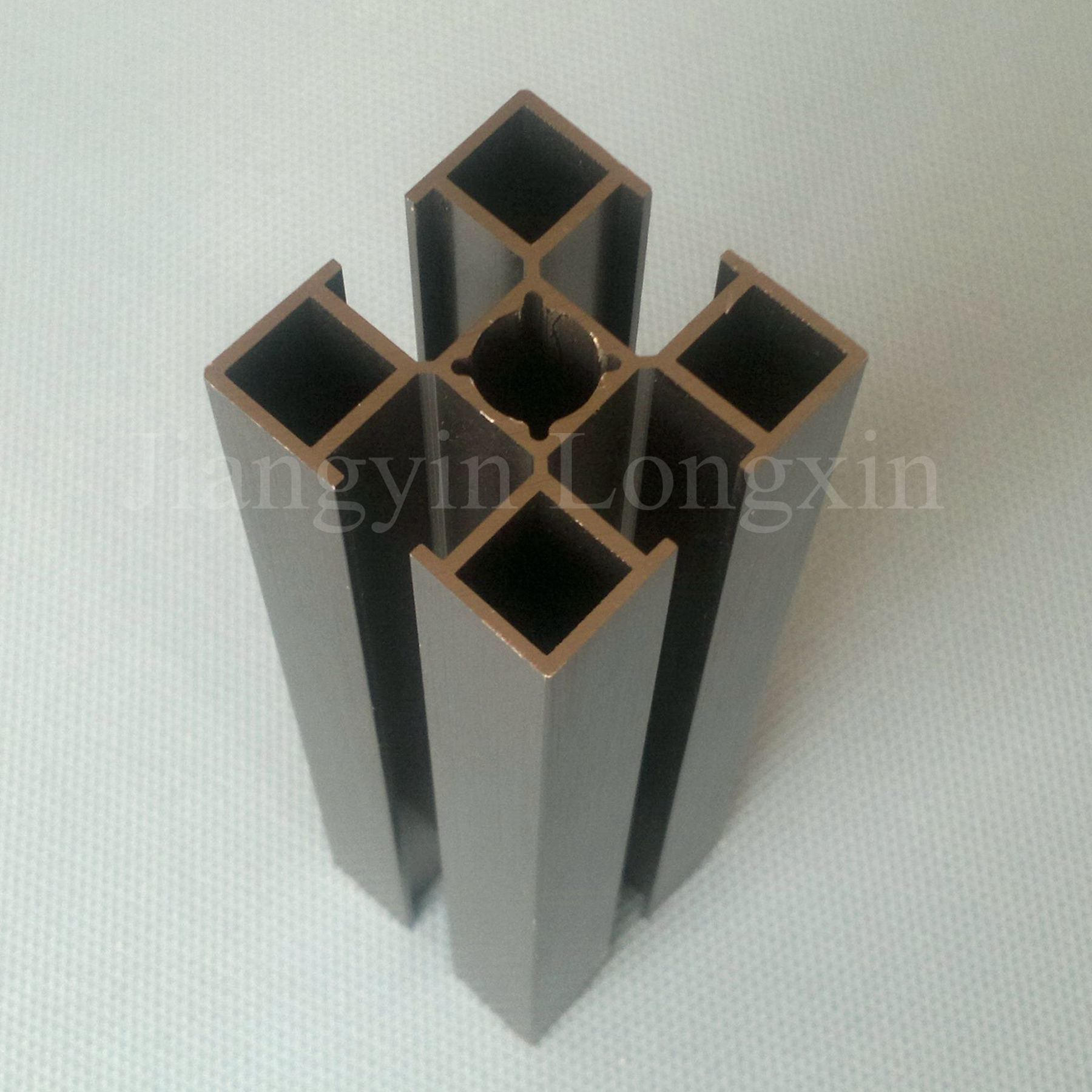 30X30 Aluminum Profile for Industry, Brown Anodized