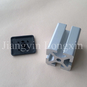 Silver Anodized Aluminum Profile for Industry with Cap