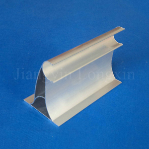 Silver Anodized Aluminium Profile for Curtain