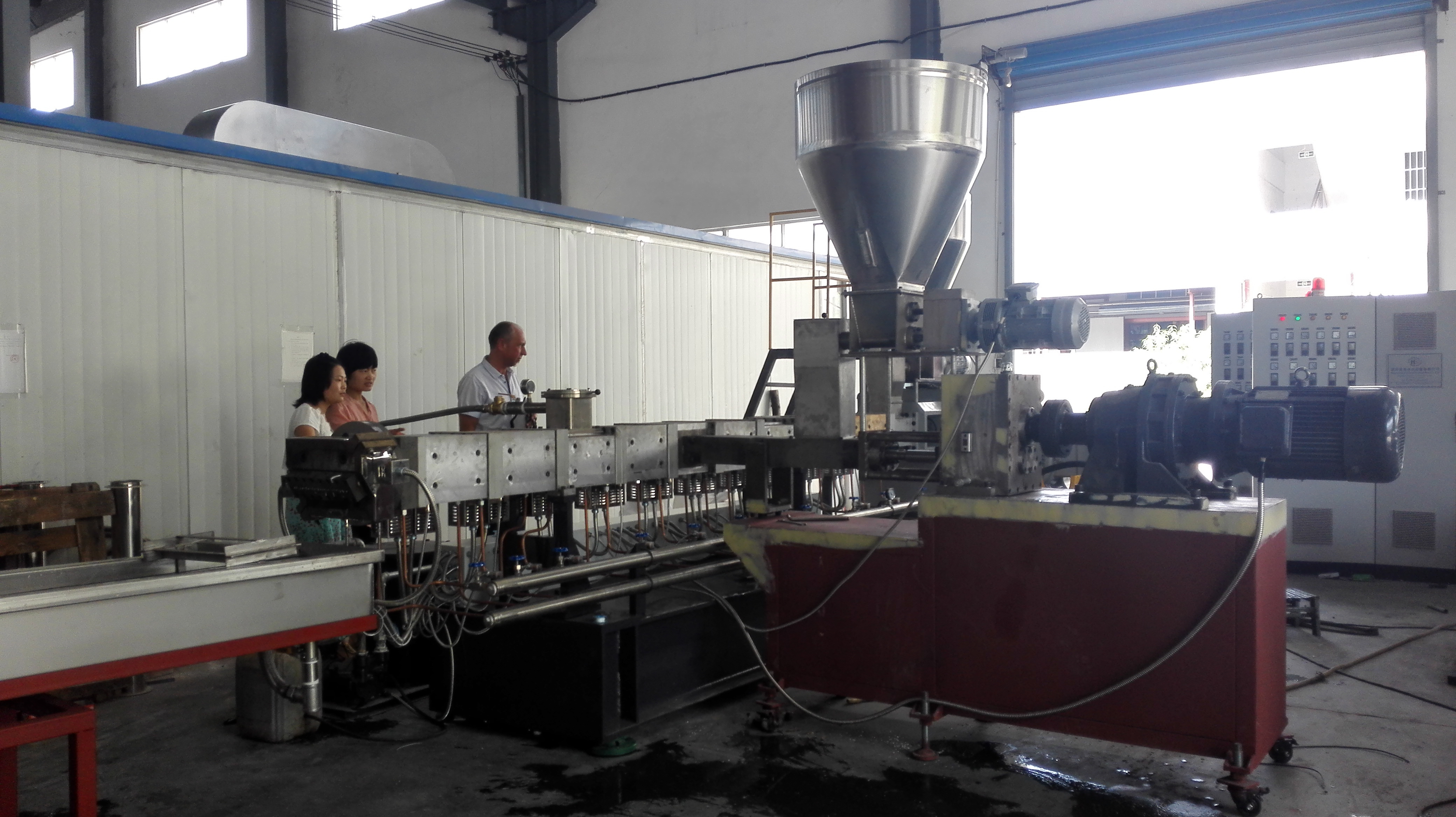 Twin Screw Parallel Co-rotating Plastic Polymer Compounding Extruder Machine