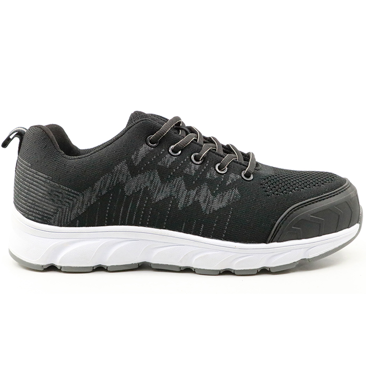 Black Metal Free Light Weight Fashionable Sport Type Safety Shoes Men Work