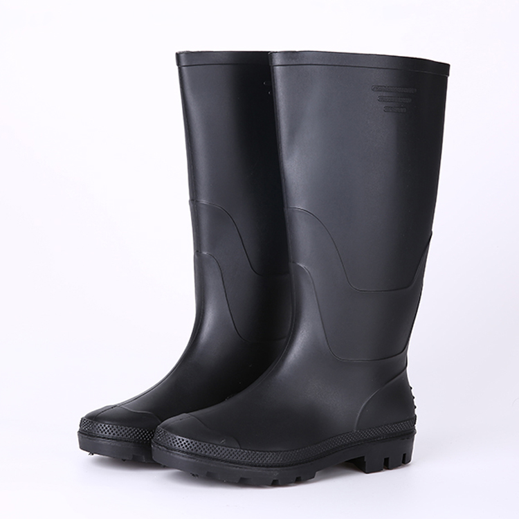 Black non safety cheap rain boots for men
