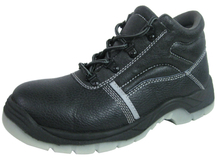 PU TPU sole genuine leather steel toe safety boot
