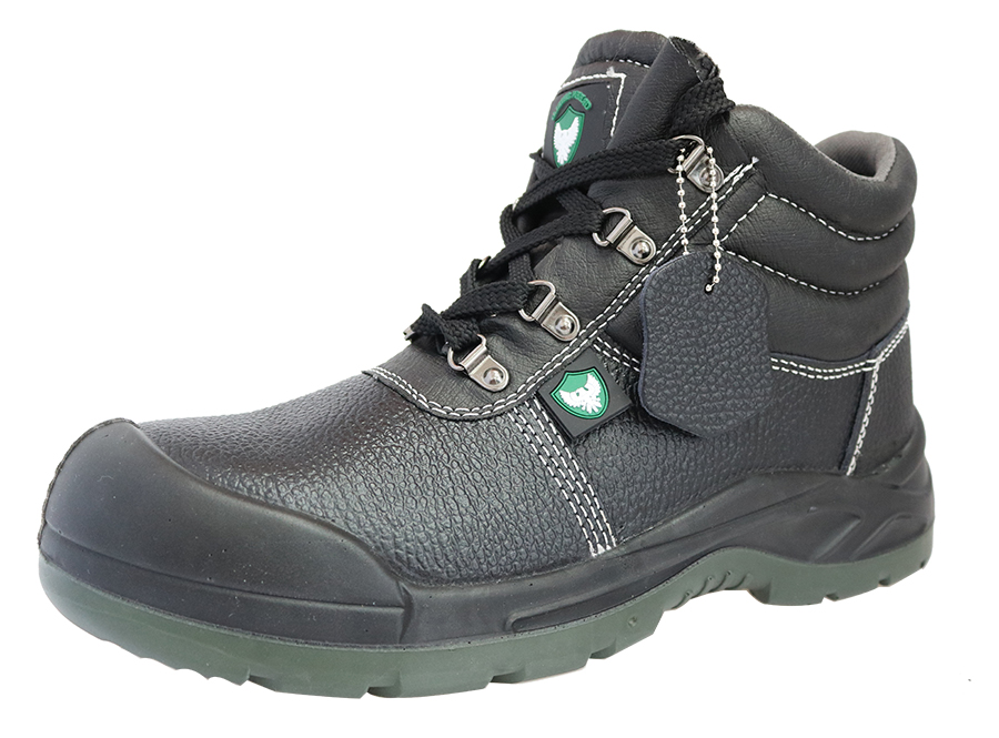 Buffalo leather PU sole steel toe safety shoes
