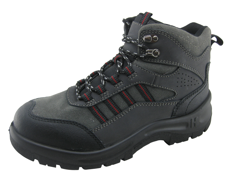 Microfiber leather sports style work safety shoes