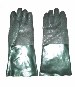 3130 PVC sandy finish palm working safety gloves