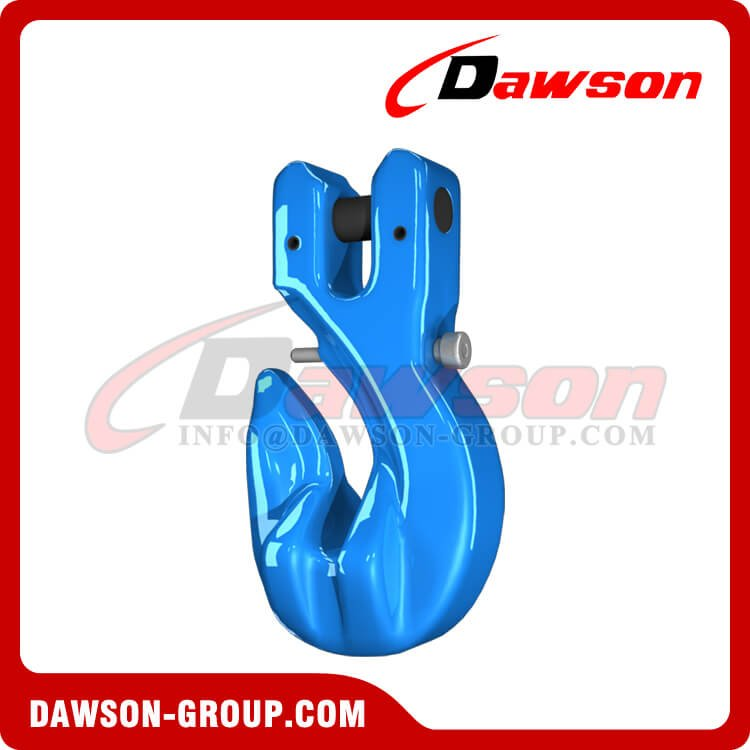 G100 Special Clevis Grab Hook with Safety Pin, Grade 100 Forged Alloy Steel Clevis Grab Hook - China Factory, Exporter