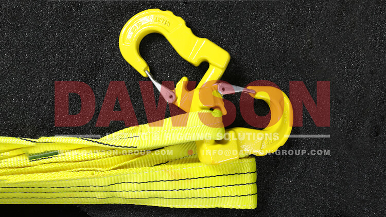 G100 Grade 100 Web Sling Hook, 3 Ton Synthetic Alloy Round Sling Hook - Dawson Group Ltd. - China Manufacturer, Supplier