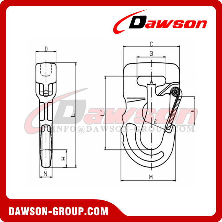 DS1055 G100 Web Sling Hook, Synthetic Alloy Round Sling Hook - Dawson Group Ltd. - China Manufacturer