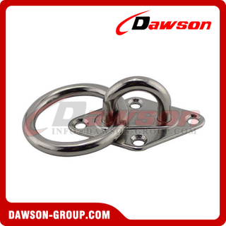 Stainless steel Diamond eye plate with ring