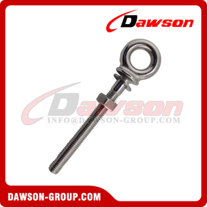 Stainless Steel Long Eye Bolt and Nut and Washer
