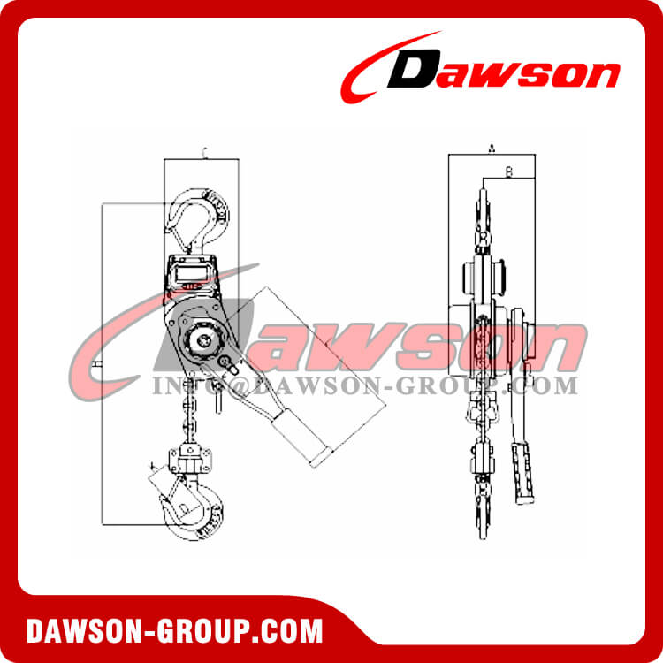 Crane Scale Lever Hoist with Display for 1Ton and 2Ton - Dawson Group Ltd. - China Supplier, Factory