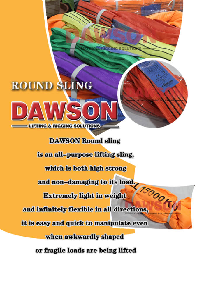 Round Lifting Slings, Polyester Lifting Slings - Dawson Group Ltd. - China Manufacturer, Supplier, Factory