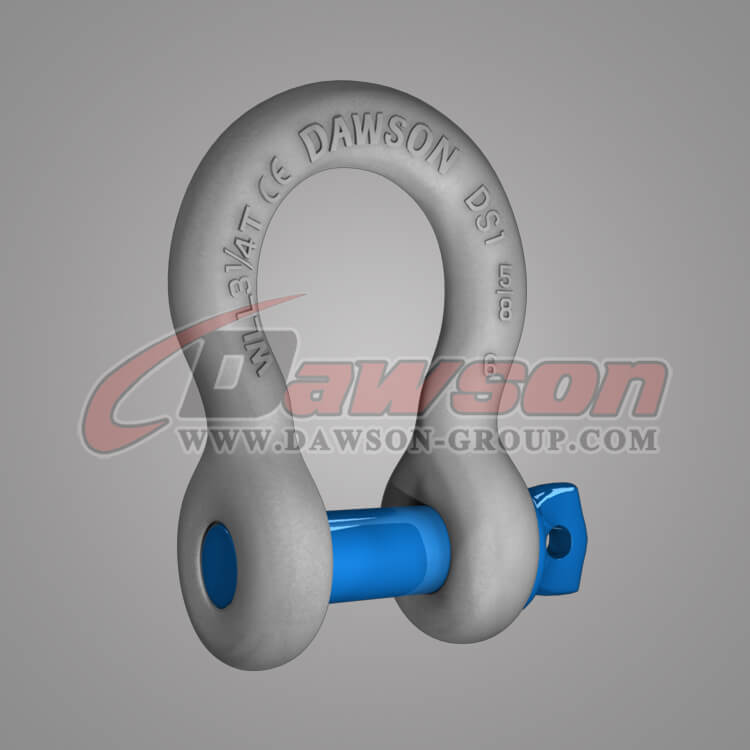 Dawson Brand Hot Dip Galvanized US Type Bow Shackle with Screw Pin - China Manufacturer Supplier, Exporter