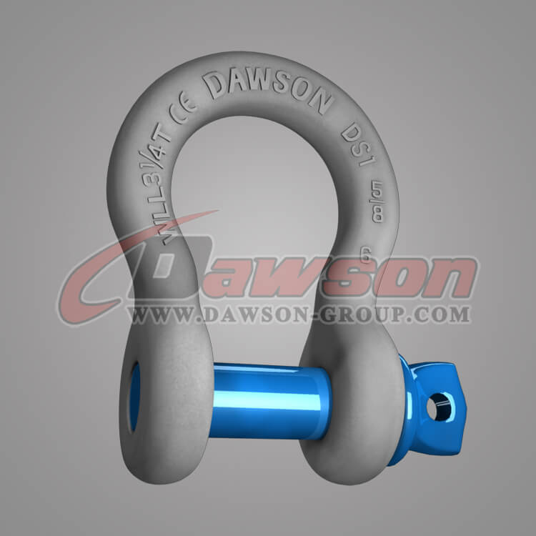 Dawson Brand Hot Dip Galvanized US Type Bow Shackle with Screw Pin, G209 Bow Shackle - China Factory Supplier