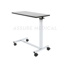 Wooden Adjustable Overbed Table (YJ-6710) Chrome base