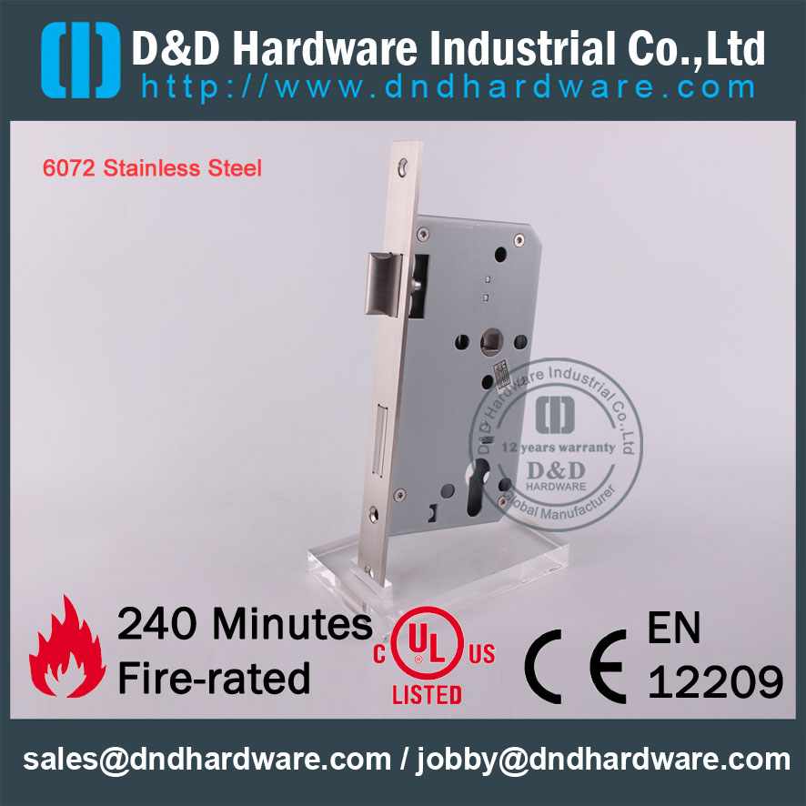 Lovely SS304 Sash Fire Rated Door Lock for Metal Door with CE Certificate DDML009 Trending - Inspirational metal door lock Minimalist