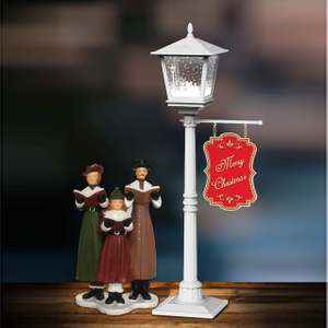 Mini christmas snow light effect music stand light