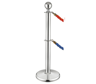 Stainless Steel Double Banner Stand Crowd Control Barrier for Hotel