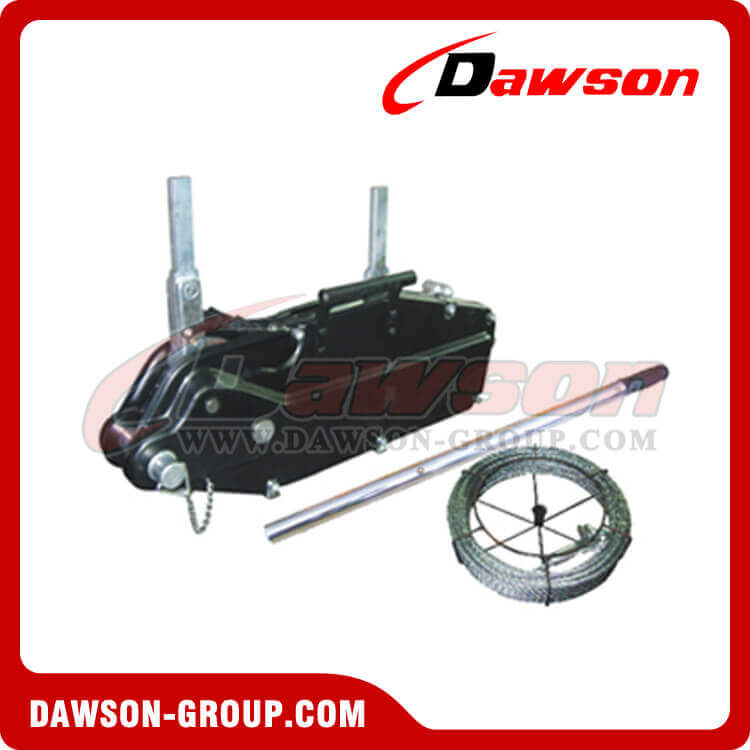 Steel Body Wire Rope Pulling Hoist, Wire Rope Tirfor, Manual Hand ...