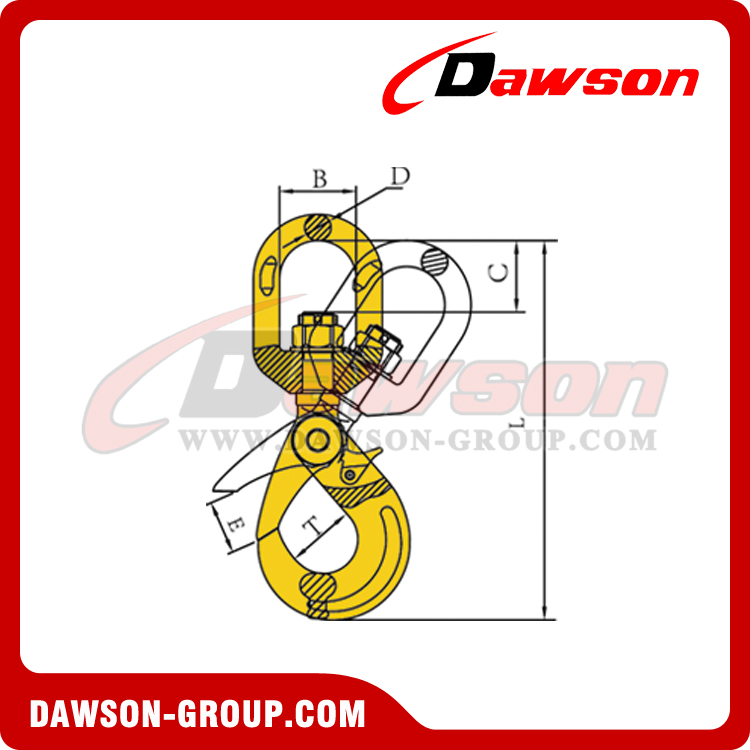 DS083 G80 EUROPEAN SWIVEL SELFLOCK HOOK DAWSON-GROUP-LTD.-CHINA FACTORY