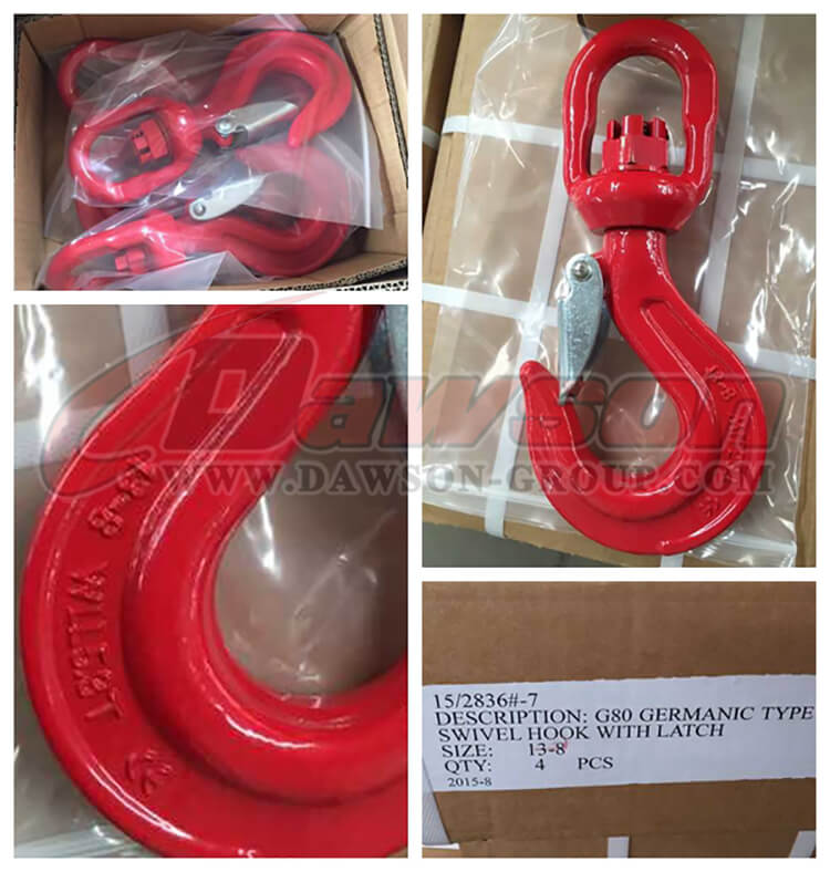 G80 Germanic Type Swivel Hook with Latch - Dawson Group Ltd. - China Manufacturer, Supplier, Factory