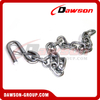 G30 Trailer Safety Chains Assembly with S Hook