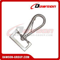 Snap Hook Half Round With Rectangle Swivel