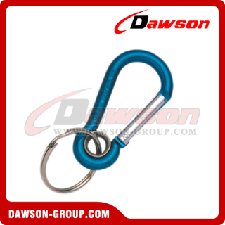 Aluminum Snap Hook with Eyelet and Key Ring