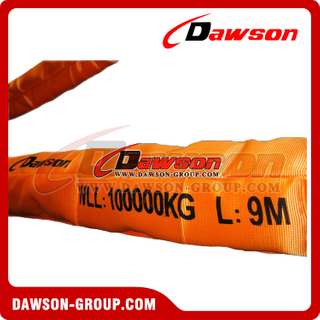 WLL 100T Polyester Round Slings AS 4497