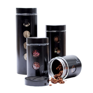 Black Steel Canisters