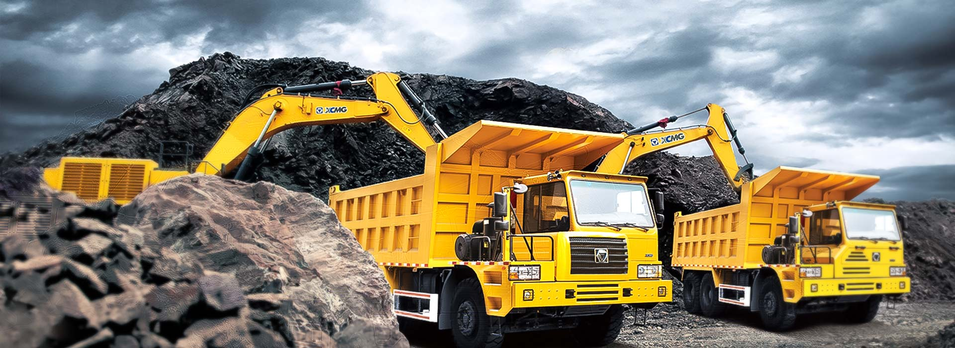 China xcmg excavators and offroad dump truck