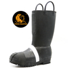 Anti Slip Fireproof Steel Toe Puncture Proof Reflective Firemen Rubber Boots