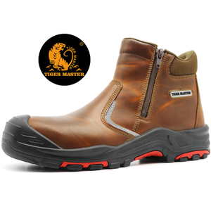 Oil Water Resistant Anti Slip Steel Toe Puncture Proof Safety Boots without Lace