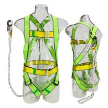 Custom Polyester Webbing Anti-falling Dorsal D Ring Full Body Safety Harness with Safety Lanyard