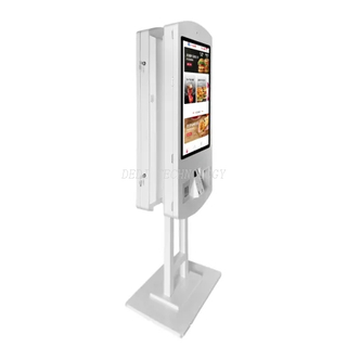 32 Inch Restaurant Ordering System Self Service Kiosk Internet Fast Food Order Machine with Touch Screen Interactive Automatically Odrered Menus