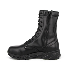 Durable military black tactical full leather boots 6235