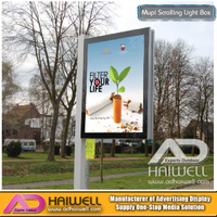 Outdoor Street Pole Scrolling LED Light Boxes Signs