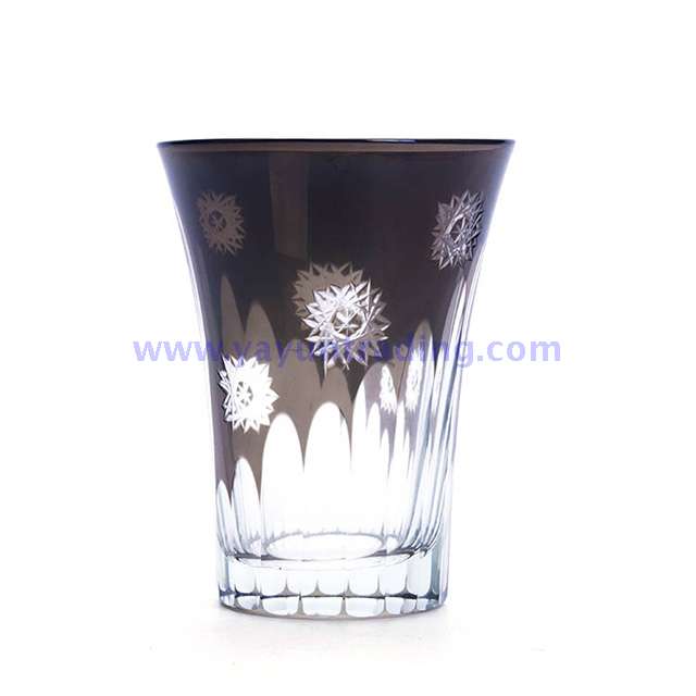260ml black stemless glass drinking cup for daily life