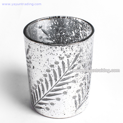 Luxury Electroplated Silver Glass Candle Jar