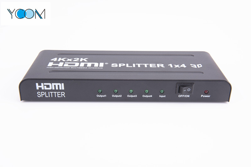 1X4 HDMI Splitter 4Kx2K Support 3D with 4Ports