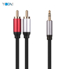 2 RCA to 1 Video Cable Audio Cable Male to Male